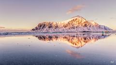 Les surfeurs norvégiens (flo73400) Tags: surfeur plage landscape lofoten paysage travel