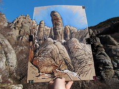 2019.12.19 - drawing THE STONE PILLARS IN THE VALLEY OF GHOSTS (CrimeanArtist) Tags: yayla pleinair демерджи enpleinair alushta demirci южная demerdzhi яйла пленэр demirji demirdji демирджи cliff mountain russian piedra mountainscape crimean россия пейзаж горы скалы гора скала крымский горный крымские berg monster montagne rocky boulder spooky montaña phallic montagna fantasma montanha roca thriller dağ outcrop pareidolia big artwork drawing mixedmedia huge geology demerdżi aluşta demirdżi pedregosidad демержи china ink pastel tinta encre inchiostro рисунок скетч парейдолия location demergi qayalar étude krim krym графика kayalar пастель qayalıq къаялыкъ