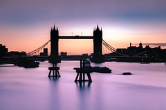 Tower Bridge at Dawn (The Ultimate Photographer) Tags: towerbridge london uk bridge dawn pink longexposure canon5markiv purple landscape landmark londonmonument monument riverthames thames daylightexposure londonbyday londonlife ultimatephotographer nobrexit adayinlondon ndfilter