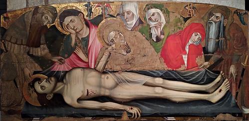Retablo de la Piedad (segunda mitad del siglo XV). Jaume Cabrera. Museu d'Art de Girona. Pietà altarpiece (second half of the 15th century). Jaume Cabrera. Art Museum of Girona
