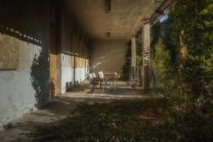 Summer school (Fragile Decay) Tags: school monastery benches sun abandonded forgotten forbidden fragiledecay empty