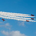 RED ARROWS' TORNADO FORMATION PAST ZE CLOUDS - WIDESCREEN