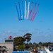 RED ARROWS FLYING TOWARDS SHOW CENTER
