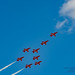 MODIFIED CONCORDE FORMATION BY THE RED ARROWS