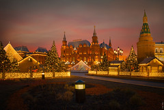 RUS73292 - New Year Mood #2 (rusTsky) Tags: red city cityview architecture tower kremlin moscow christmas christmastree lights sunrise old skyline travel urban historical building outdoor exterior canon eos5d capital ny newyear celebration