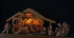 Happy Christmas and a peaceful New Year ... (Brian Dunning) Tags: christmas nativity homemade canon eos5dmarkiii ef24105mmf4lisusm godox led36lights