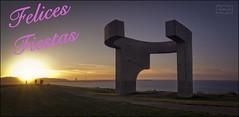 Felices Fiestas 2019 (Jose Antonio. 62) Tags: gijón asturias spain españa horizon horizonte sculpture escultura chillida elogiodelhorizonte cimadevilla
