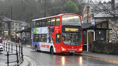 First Huddersfield YN58 ETT 37525 (WY Bus Spotter) Tags: first huddersfield yn58ett 37525 holmfirth west yorkshire bus spotter wybs wybusspotter honley 308 netherthong oldfield volvo b9tl wrightbus wright eclipse urban holme valley connections route livery red depot gemini old fieldhouse lane scenery station holmfirthbus westyorkshirebusspotter yn58 ett holmfirthbusstation firsthuddersfield