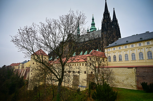 Prague Castle Walls with St. Vitus Cathedral - Prague Czechia