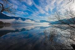 December reflection ... (milance1965) Tags: see sea lake wasser millstättersee österreich austria kärnten carinthia blau blu blue fuji fujifilm fujixt1 xt1