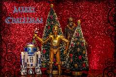 Merry Christmas my Flickr friends :-) (Dotsy McCurly) Tags: merrychristmas toyphotography starwars r2d2 c3po chewbacca me selfie bokeh santa happyface adobephotoshop canoneos80d efs35mmf28macroisstm