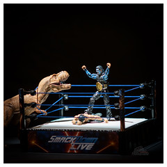 Courage (_Matt_T_) Tags: wrestler fun soligor135mmf18 trex toys hardy belt winner play wwe dinosaur af360fgz cactusv6