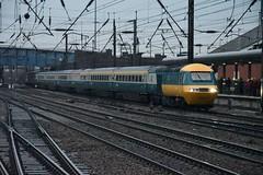 "British Rail Blue & Grey Class 43's 43006 & 43112 (37190 ""Dalzell"") Tags: br britishrail bluegrey lner londonnortheasternrailway brelcrewe brushtraction rebuild mtu hst highspeedtrain class43 43006 43206 43112 43312 railtour thenorthumbrian letsgoroundagain farewell chartertrain doncaster"