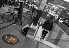 Go Carps! (Corey Hamilton) Tags: night nikonz7 blackandwhite streetphotography hiroshimacarps hiroshima baseball japan