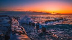 Sunset Over Lake Michigan (CTfotomagik) Tags: nikon d750 tamron wideangle landscape waves water sunset coast lakemichigan ctfotomagik christopherthomas puremichigan great lakes