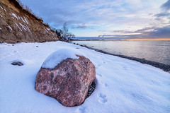 red rock (popov sin) Tags: ontario whitby lake landscape snow ice rock boulder