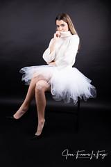 MAR_2761 (jeanfrancoislaforge) Tags: marjory marjorydurocher nikon d850 beauty beauté portrait tutu highheels white flawless studio elinchrom blackbackground