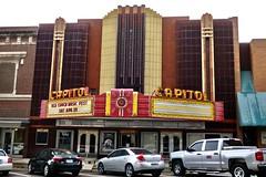 Capitol Theatre, Burlington, IA (Robby Virus) Tags: burlington iowa ia capitol theatre theater marquee facade movies cinema sign signage artdeco neon
