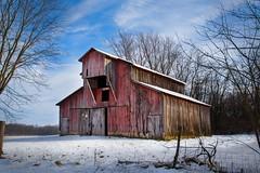 Winter Red Barn (markburkhardt) Tags: