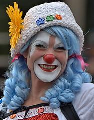 Clown Face (Scott 97006) Tags: clown costume parade facepaint smile cute wig