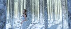 snow white (Mara Telling:) Tags: sl secondlife snow snowwhite woods winter winterwonderland white