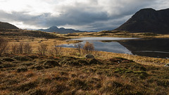 In the Valley D75_0875 (iloleo) Tags: mountains fjords norway lofoten fall grasses landscape scenic nature nikon d750 reflection marsh