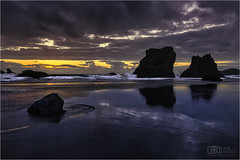 Your conscience, sweet like honey (Dave Arnold Photo) Tags: or ore oregon bandon coquille sunset caperunstatepark pacific beach coast west northwest tide tidal wave rock point park davearnold davearnoldphotocom pic picture photo photography photograph photographer travel charleston empire northbend national seastack famed spread island where central awesome canon 5d mkiii us usa image beautiful idyllic serene peaceful wet high famous howto tour tourist wild fantastic coosbay professional lightroom photoshop lumiunar4 facerock 1635mm