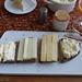Duc de Bourgogne, Ziegen-Ribeaupierre, Tome du Pays und Porree-Frischkäse auf Majanne-Brot