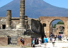Vesuvius (thomasgorman1) Tags: volcano mountain pompeii canon travel archaeological columns people tourists remains 79ad roman city eruption ruined ancient vesuvius