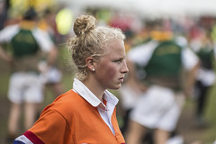 Not a happy camper ... (Frank Fullard) Tags: frankfullard fullard sad loser team sport tugofwar color colour irish ireland dutch holland netherlands castlebar mayo athlete athletics blonde lady sportswoman