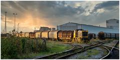 Steelworks sunset (Mark Gowing) Tags: porttalbot steelworks em1 shunter margam