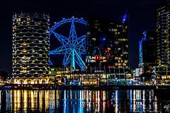 Docklands & Melbourne Star Observation Wheel (vipantazi) Tags: australia melbourne victoria docklands wheel canoneos7d canon70300ii landscape nightscape