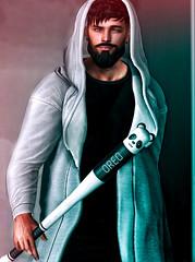 [ 📷 - 240 ] (insociable.sl) Tags: boy man male beard bat sl secondlife stick edit street hoodie slam streetwear magnificient modulus amias