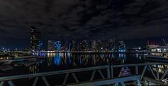 At The Docklands (vipantazi) Tags: australia docklands victoria canoneos7d tokina1116 night landscape longexposure