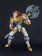 STORM KNIGHT: ARBITER (Ballom Nom Nom) Tags: bionicle lego ccbs herofactory constraction model toy knight storm stormknight arbiter boss axe ax flail dungeon bignicle