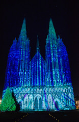 Lichfield Cathedral Light and Sound Show (Seventh Heaven Photography - (Travel)) Tags: lichfield cathedral light sound show staffordshire nikond3200 church building thebeginning england
