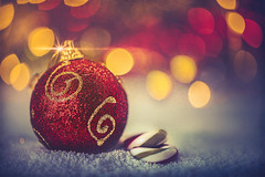 Merry Christmas! (Ro Cafe) Tags: christmas nikkor105mmf28 sonya7iii stilllife baubles smileonsaturday lights bokeh textured snow candycanes