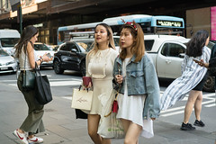 Comet (McLovin 2.0) Tags: street candid portrait people streetphotography urban city sydney xmas fashion style girls sony a7s 55mm zeiss jean jacket