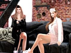 あいちゃんのおうちで寝起きごっこ (vparisv1225) Tags: firestorm secondlife fun christmas winter maitreya decor beauty fashion girls women avatar digital 3d reality virtual vr sl life second