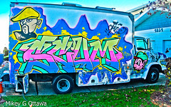 Film Crew Truck -  Vancouver 11 19 (Mikey G Ottawa) Tags: mikeygottawa canada bc vancouver colour farbe couleur truck paint graffiti capo