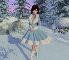 Fay in the snow (Ollivee) Tags: secondlife sl slmesh slbento truthhair tetra maitreya mesh genus cynful