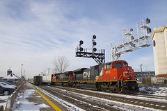CN 368 (Michael Berry Railfan) Tags: cn canadiannational cn368 train freighttrain dorval montreal quebec cn8855 cn2146 sd70m2 dash8 dash840cw ge generalelectric emd gmd