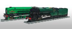 LEGO LNER P2 and A2/2 (Britishbricks) Tags: lego a22 a2 lner br steam train engine loco moc custom thompson gresley princeofwales thane fife