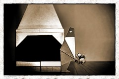 Origami Notte di Magia (Francesco Miglionico) (De Rode Olifant) Tags: francescomiglionico nottedimagia magicnight origami qqm63 marjansmeijsters paper papiroflexia diagrams buonorigami xmas christmas origamisanta origamisantaclaus 3d santa santaclaus