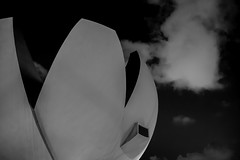 ArtScience Museum Detail (Robycrux) Tags: skancheli science art museum singapore black white bw architectur modern loto