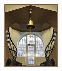 the bell (Körnchen59) Tags: glocke bell fenster window treppenhaus staircase hamburg germany körnchen59 elke körner sony 6000