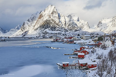Merry Christmas and a happy festive season to all my wonderful Flickr friends ! (Petra S photography) Tags: reine lofoten lofotenislands norge norway nordnorwegen northernnorway nordland winter winterday winterstimmung winterwonderland wintermood