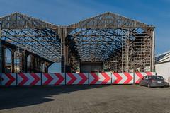 The red border (jefvandenhoute) Tags: belgium belgië antwerpen merksem light demolition