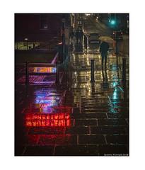 A Rainy Night in Park Street (zolaczakl) Tags: bristol parkstreet illumination reflections rain pavement fujix100f photographybyjeremyfennell jeremyfennellphotography 2019 december umbrella figures nightphotography handheld