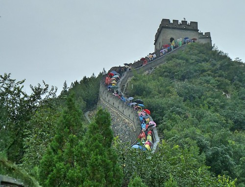 Pékin  la grande muraille jour de  pluie
